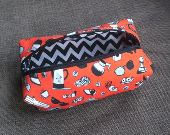 Twin Peaks illustrated make-up bag/pencil case. Handmade and exclusive to ThatAgnes!