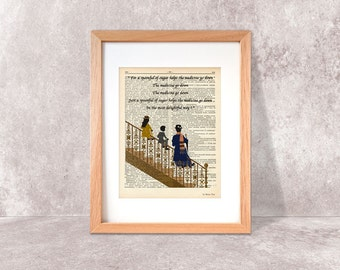 Mary Poppins Just a spoonful of sugar dictionary print-Mary Poppins print-Nursery print-Poppins book art-home decor-by NATURA PICTA-NPDP079