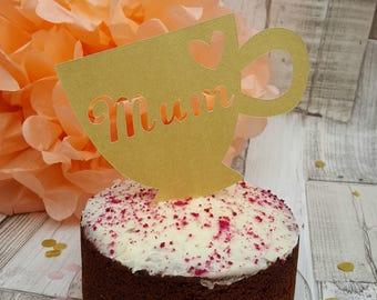 Mum Teacup Cake Topper
