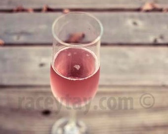 Pink Champagne, Brown, Pink, Food Photography, Rustic Kitchen Decor