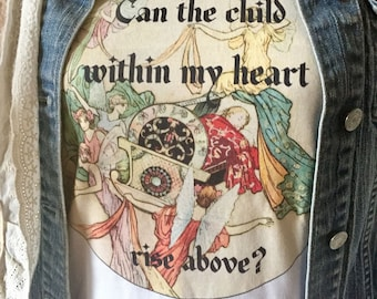 Stevie Nicks ~ Fleetwood Mac ~ t shirt  ~ super soft 100% cotton ~ can the child within my heart rise above