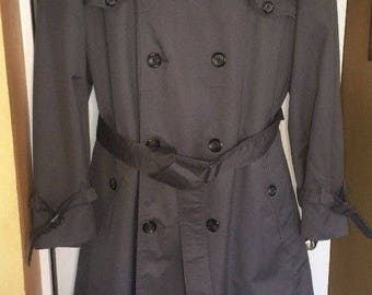 CHRISTIAN DIOR MONSIEUR Trench Rain Coat Olive Removable Lining Size 42R