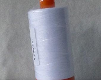 Thread, Aurifil, #2024 White,Cotton Thread, Quilt,Sewing,50 Wt.Mako,1300m/1420 Yds, Fast Shipping TH170