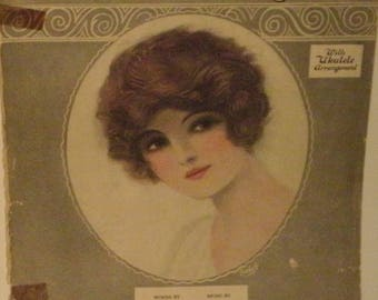 Because They All Love You, sheet music by Tommie Malie, Jack Little, 1924, fair shape, Vintage