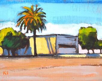 Imperial Avenue- San Diego Urban Landscape Painting