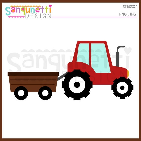 tractor clipart wagon clipart transportation clipart farm rh etsy com farm tractor clipart black and white