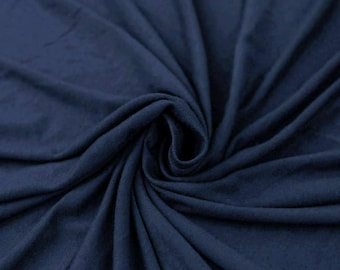 Denim Ultra-Heavy Weight Rayon Spandex Jersey Knit Stretch Fabric by the Yard - Style 407