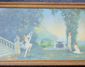 "R. Atkinson Fox 1926 Borin Chicago Print ""Spirit of Youth"" Lithograph Vintage"