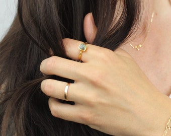 Gifts For Women, Gemstone rings for women, Gift for Wife, Labradorite Ring, Stacking Ring, Dainty Ring, Gift for her, by The Silver Wren,