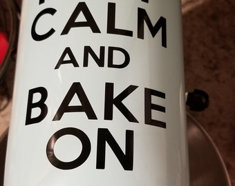 Keep Calm and Bake on Mixer decal