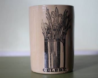 Retro Celery Jar made by Pearsons of Chesterfield - 1970s
