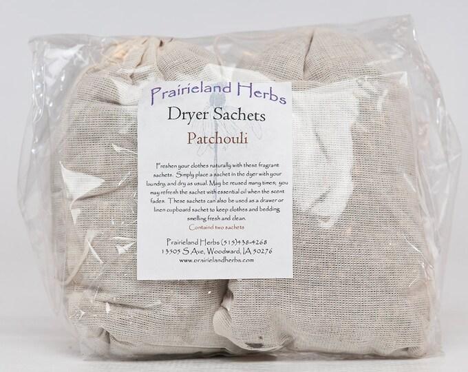 Herbal Dryer Sachets 100% natural - Lavender, Lavender-Cedar,Rose, or Patchouli