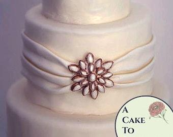 Starburst DIY wedding cakes edible brooch, cake brooch, edible diamonds, edible jewels, edible cake jewels,  sugar gems, gumpaste brooch