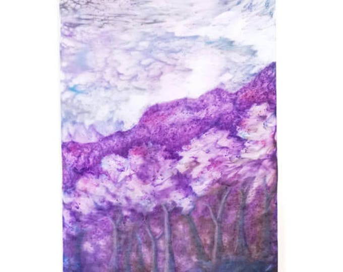 Flowering Trees Tapestry-Watercolor Tapestry-Bohemian Decor-Wall Hanging-Cottage Decor-Gift for Mom-Home Decor Gifts-Watercolor Home Decor