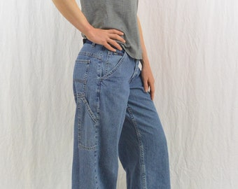 Vintage Carpenter Jeans, LEI, 90's Clothing, Women's Workwear, Painter Pants, Size Small, Tumblr Clothing