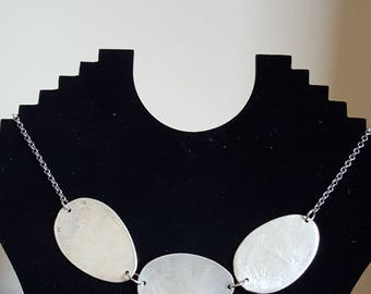 Necklace in silver with small spoons desert