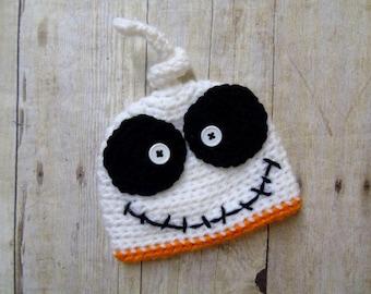 Baby Ghost Hat, Newborn Ghost Hat, Ghost Hat, Crochet Ghost Hat,Baby Skeleton Hat, Baby Halloween Hat, Newborn Halloween Hat, Photo Prop