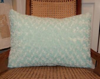 Sea Green Fluffy Pillow, Decorative, Super Soft Seaglass Pillow