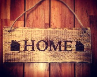 Rustic Handmade Wooden Home Sign