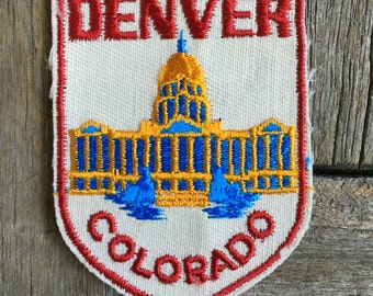 Denver Colorado Vintage Travel Patch by Voyager