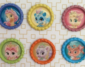 Princess Palace Pets 2 Inspired Bottle Caps Necklace/Keychain/ Zipper Pulls