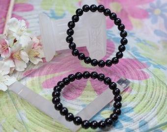 Natural gemstone black Tourmaline bracelet