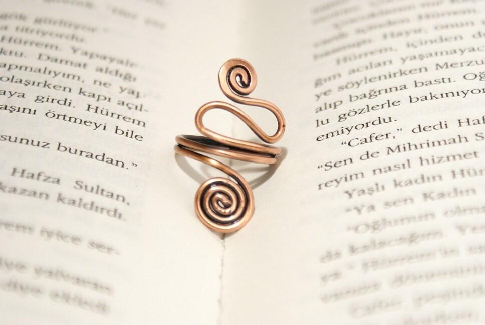 Kupfer Kupfer Schmuck Ring Draht umwickelt Ring Ring