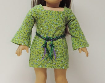 70's doll bell sleeve dress for 18 inch dolls