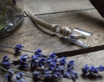 Cornflower Vial Necklace