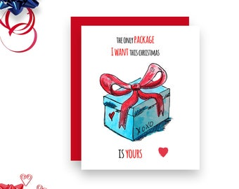 Sexy Christmas Card - Your Package - Christmas Card - Naughty Christmas card