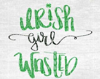 St. Patricks Day Svg Cut File - St. Pattys Day Svg Cut File - Adult St. Patricks Day Svg Cut File - Irish Girl Wasted - 4 Leaf Clover Svg