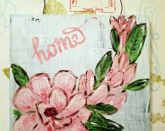 Pink Magnolia Painting