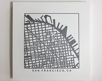 San Francisco or San Diego pressed print