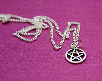 Supernatural inspired pentagram charm witch sign protecting pendant star gift idea