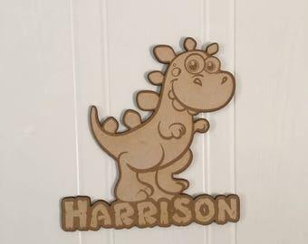 Personalised dinosaur door sign