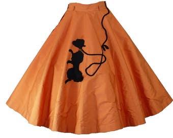 Playful Poodle - Vintage 1950's Circle Skirt - Small