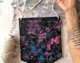 Wood Decor, Galaxy, Space on the wood, Hand Painted Space, Galaxy Art, Space Painting, Space, Galaxy sign, Kid room painting, Cosmic acrylic