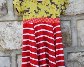 Waldorf dressJust cute is a Twirl Dress, party dress, Girl Dress ,play dress, Carousel dress,