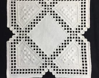 Hardanger Doily Embroidery WHITE