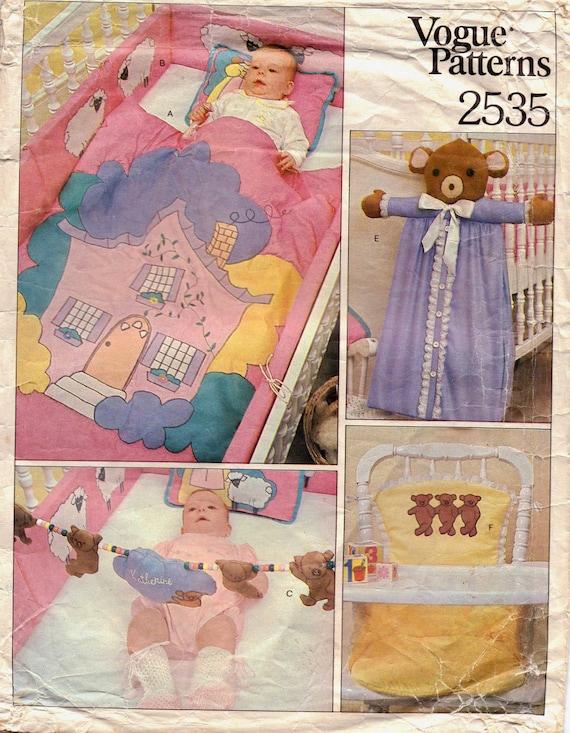 70s Baby Nursery Decor Quilt Pillow Bumper Pads Kickers