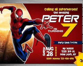 spiderman invitation spiderman birthday invitation spiderman spiderman printable spiderman card spiderman invite party digital