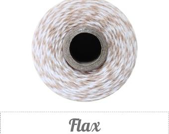 240 Yards (Full Spool) of Bakers Twine . Flax (lt. khaki, lt. brown or tan)