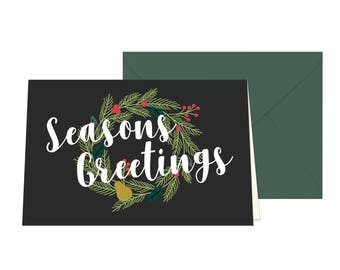 Seasons Greetings Holiday Card