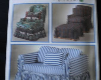 Simplicity design your own easy slipcovers 8978