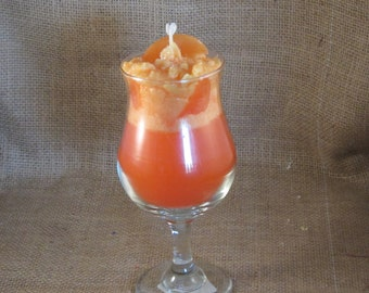 Fuzzy Navel  Drink Candle