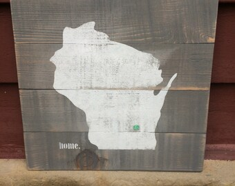 Wisconsin HOME sign