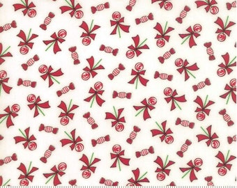 Moda - Bunny Hill Designs - Sugar Plum Christmas - Lollipops - White