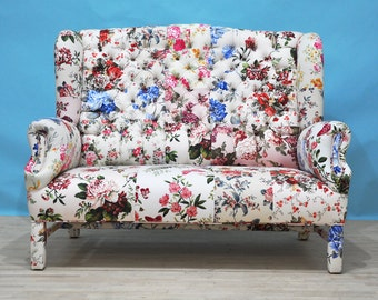Floral - wing patchwork sofa