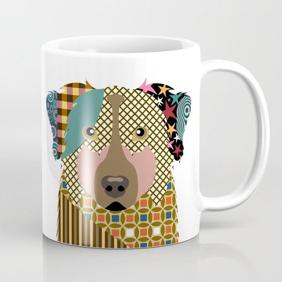 Australian Shepherd Mug, Aussie Gifts, Aussie Mug, Animal Mug, Pet Gifts, Pet Mug, Dog Lovers Gift, Dog Lover Mug, Dog Lover, Animal Print