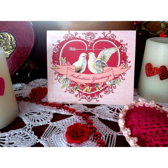Printable Valentine Doves Card
